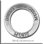 Sterling Silver MUSIC Affirmation Charm
