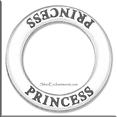 Sterling Silver PRINCESS Affirmation Charm