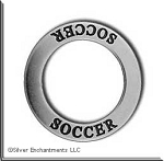 Sterling Silver Soccer Charm