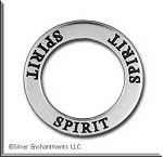 Sterling Silver SPIRIT Affirmation Charm