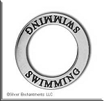 Sterling Silver SWIMMING Affirmation Charm