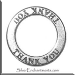 Sterling Silver Thank You Charm