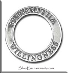 Sterling Silver WILLINGNESS Affirmation Charm