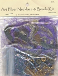 Art Fiber Necklace Kit Purple Royale