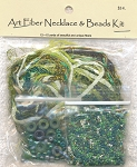Art Fiber Necklace Kit, Mint Julep