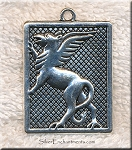 Silver Large Gryphon Necklace, Griffin Necklace