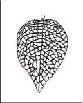 Bailed Large Lacy Leaf Necklace