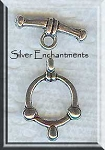 Silver Pewter Nautical Toggle Clasps 10 per bag