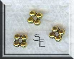 Gold Pewter 4 Ball Spacer Beads 5mm 50 per bag