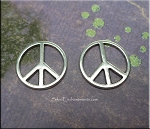 Silver Pewter Peace Jewelry Centerpieces 20mm 10 per bag