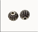 Silver Pewter Granulated Grenade Beads 8.5mm 10 per bag