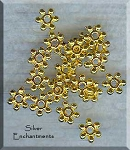 Gold Pewter 6mm Snowflake Spacer Beads 20 per bag