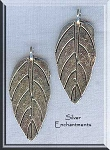 Silver Pewter Bailed Leaf Pendants 30x13mm 10 per bag