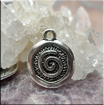 Silver Pewter Spiral Charms 20x15mm 10 per bag