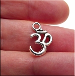Om Charm, Antique Silver