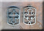 10 Gun Metal Pewter Gothic Cross Jewelry Connectors 30x19mm