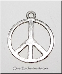 Silver Peace Sign Earrings - Everyday Peace Jewelry