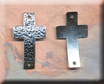 Silver Pewter Hammered Cross Jewelry Connectors 49x28mm 10 per bag