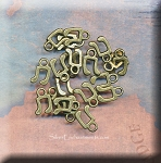 Small Brass Music Note Charm Jewelry