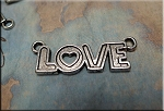 Tibetan Silver Love Jewelry Centerpiece, Love Jewelry Finding, 35mm