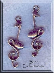 Music Note and Treble Clef Pendant