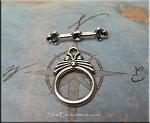 10 Silver Pewter Art Deco Toggle Clasps