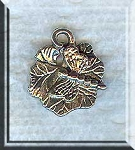 Silver Pewter Dragonfly on Leaf Charms 17x15mm 15 per bag