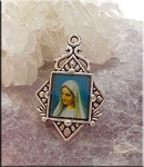 Mary-Madonna Religous Medal Earrings