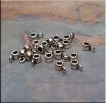 ZSOLDOUT / Silver Pewter Small Bails for Beaders 2.25mm Hole 20 per bag