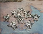 Silver Pewter Halloween Cat Charms 20x18mm 10 per bag