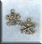 Skull and Crossbones Pirate Earrings