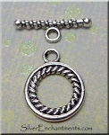 16mm Round Toggle Clasps with Twist Inner Ring (10)