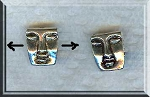Silver Pewter Face Beads 12x10mm 10 per bag