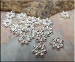 Silver Pewter Daisy Spacers 7mm 100 per bag