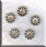 Silver Pewter Daisy Spacers 10mm 30 per bag
