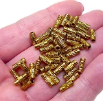 Gold Pewter Bali Style Tube Beads 3x8mm 50 per bag