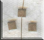 Plain Square Chicklet Beads, 7mm Antique Silver (30)