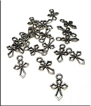 Silver Pewter Cross Charms 17x10mm 20 per bag