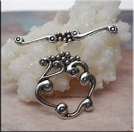 Silver Pewter Loopy Cloud Designer Toggle Clasps 6 per bag