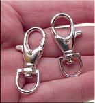 Lobster Swivel Clasp for Key Rings Bag Charms 5 per bag