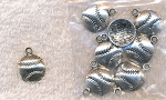 ZSOLDOUT / Silver Pewter Baseball Charms Softball Charms 10 per bag