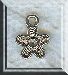 Silver Pewter Flower Charms 12x9mm 30 per bag