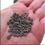 Silver 4.5mm Daisy Spacer Beads, Antique Silver Pewter Daisy Spacers Bulk (100)