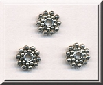 Silver Pewter Snowflake Spacers 8.5mm 50 per bag