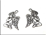 Silver Pewter Praying Angel Pendants 23x15mm 10 per bag