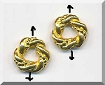Gold Pewter Fancy Twist Ring Beads 12mm 10 per bag