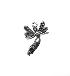 Silver Pewter Fairy Pendants 25x18mm 10 per bag