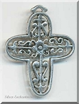 Large Filigree Cross Necklace - Everyday Silver Christian Jewelry
