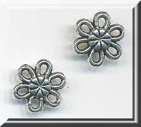 Silver Pewter Daisy Jewelry Connectors 10mm 15 per bag
