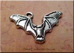 Silver Pewter Bat Charms16x24mm 10 per bag